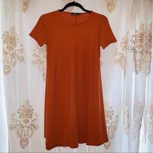 Orange Rust Boohoo Shift Dress 🍁